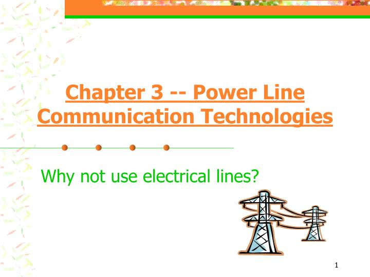 chapter 3 power line communication technologies n.