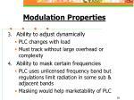 modulation properties