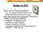 noise in plc