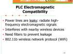 plc electromagnetic compatibility