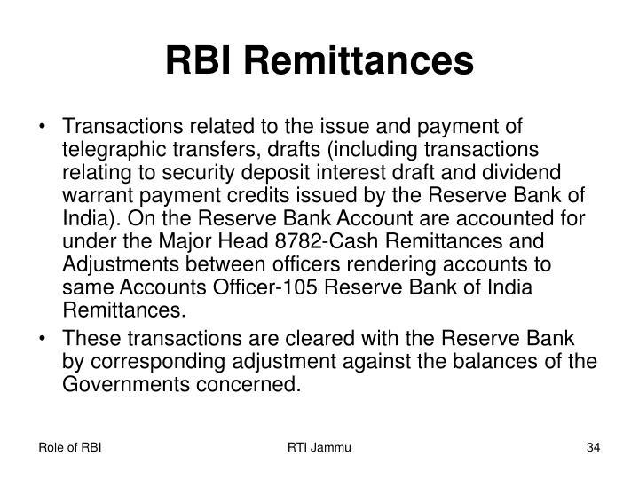 RBI Remittances