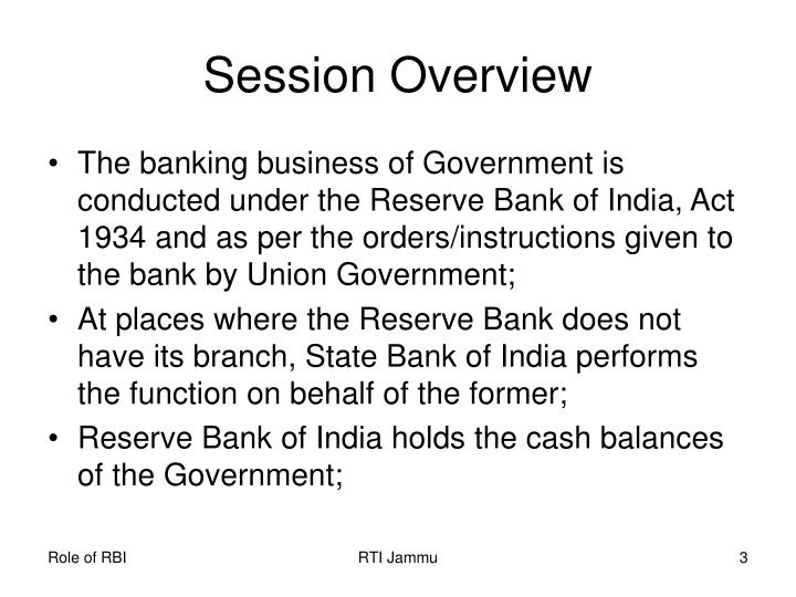 Session overview1