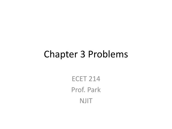 chapter 3 problems n.