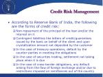 credit risk management1