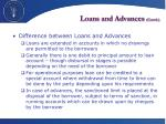 loans and advances contd