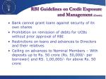 rbi guidelines on credit exposure and management contd