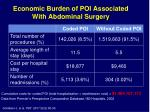 economic burden of poi associated with abdominal surgery
