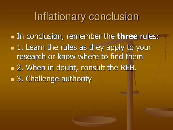 Inflationary conclusion