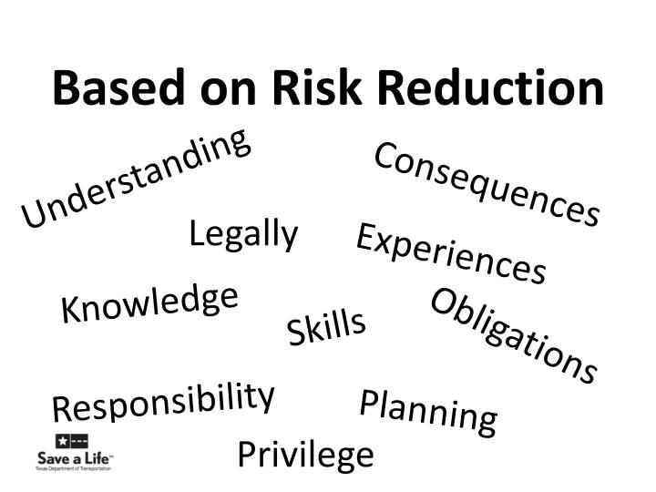 Based on Risk Reduction