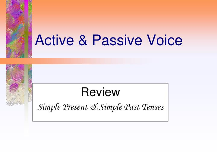 review simple present simple past tenses n.