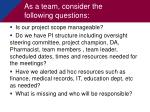 as a team consider the following questions