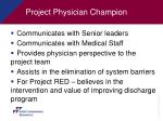 project physician champion