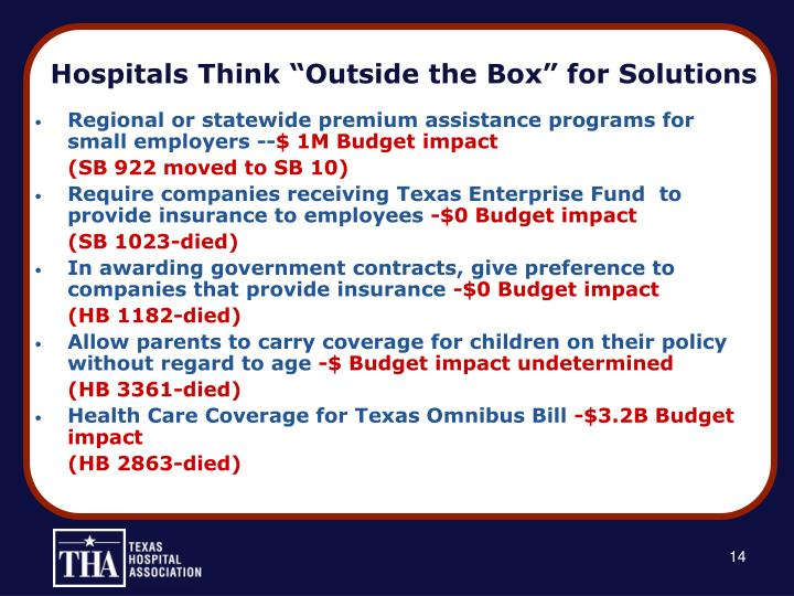 """Hospitals Think """"Outside the Box"""" for Solutions"""