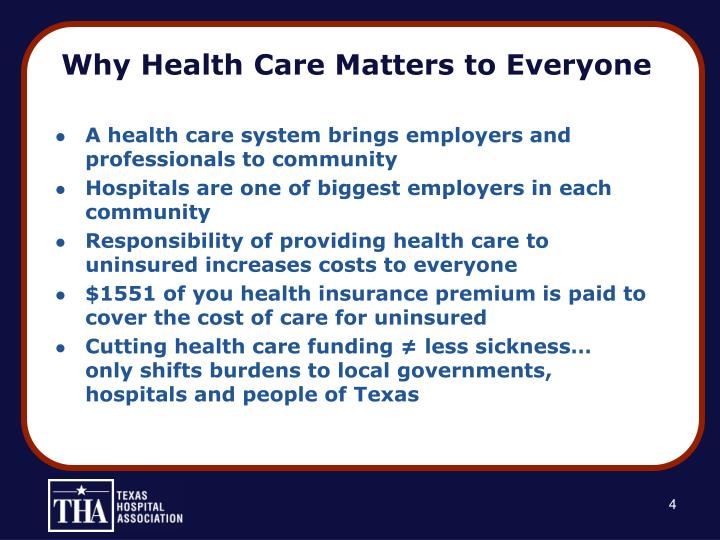 Why health care matters to everyone