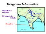 bangalore information