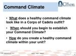 command climate