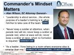 commander s mindset matters alan wilson sc attorney general