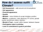 how do i assess outfit climate1