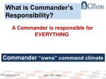 what is commander s responsibility