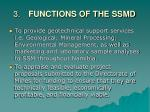 3 functions of the ssmd