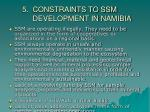 5 constraints to ssm development in namibia