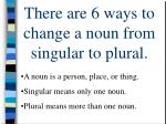 there are 6 ways to change a noun from singular to plural