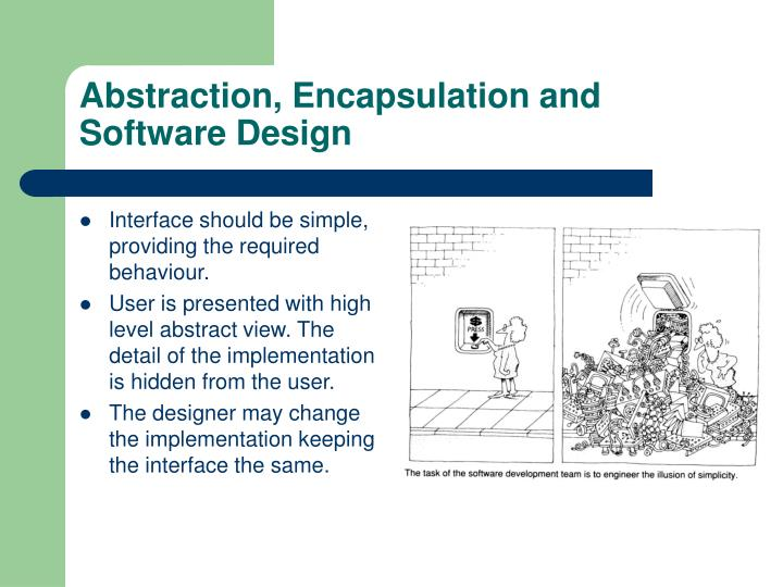 Abstraction, Encapsulation and Software Design