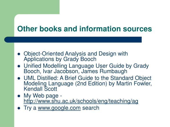 Other books and information sources