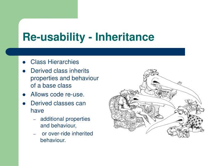 Re-usability - Inheritance