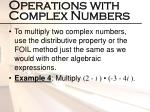 operations with complex numbers1