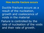 how ductile fracture occurs