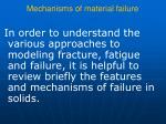 mechanisms of material failure