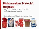 biohazardous material disposal