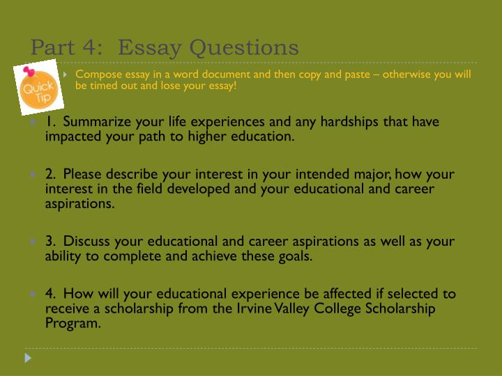 goals and aspirations essay for scholarship