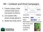 4 linkbait and viral campaigns
