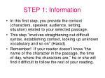 step 1 information