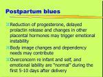 postpartum blues
