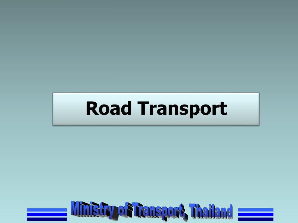 PPT - Progress in Transport Infrastructure Development