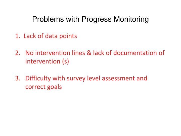 Problems with Progress Monitoring