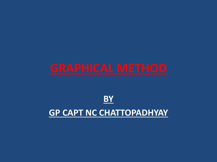 graphical method n.