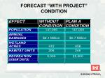 forecast with project condition