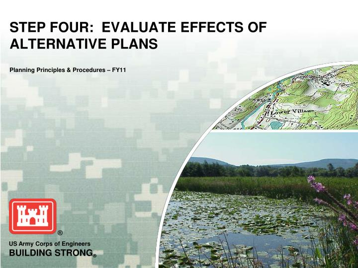 step four evaluate effects of alternative plans planning principles procedures fy11 n.