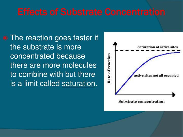 Effects of Substrate Concentration