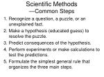 scientific methods common steps