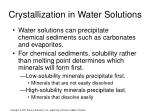 crystallization in water solutions1