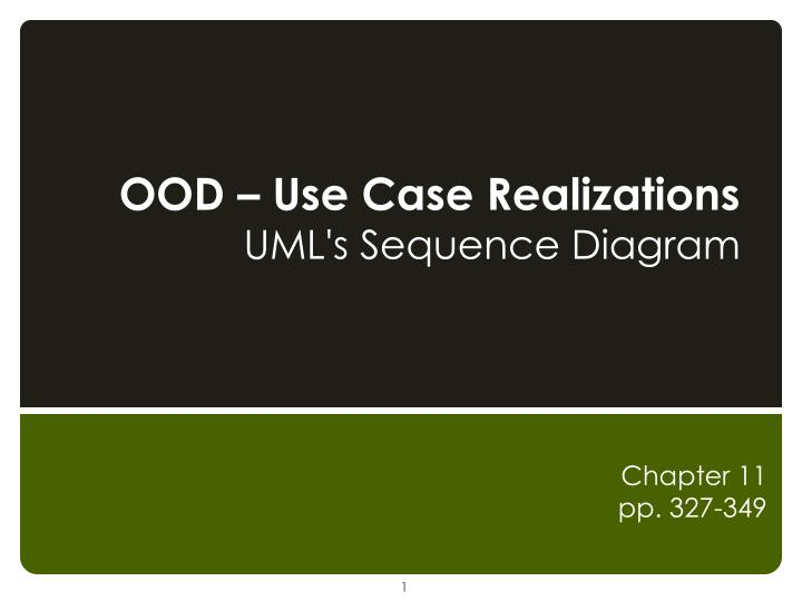 ood use case realizations uml s sequence diagram n.