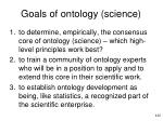 goals of ontology science