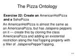 the pizza ontology