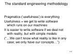 the standard engineering methodology