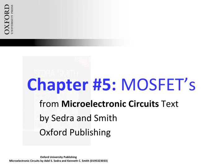 chapter 5 mosfet s n.